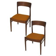 1960s Danish Teak Chairs by Kai Kristiansen, Pair