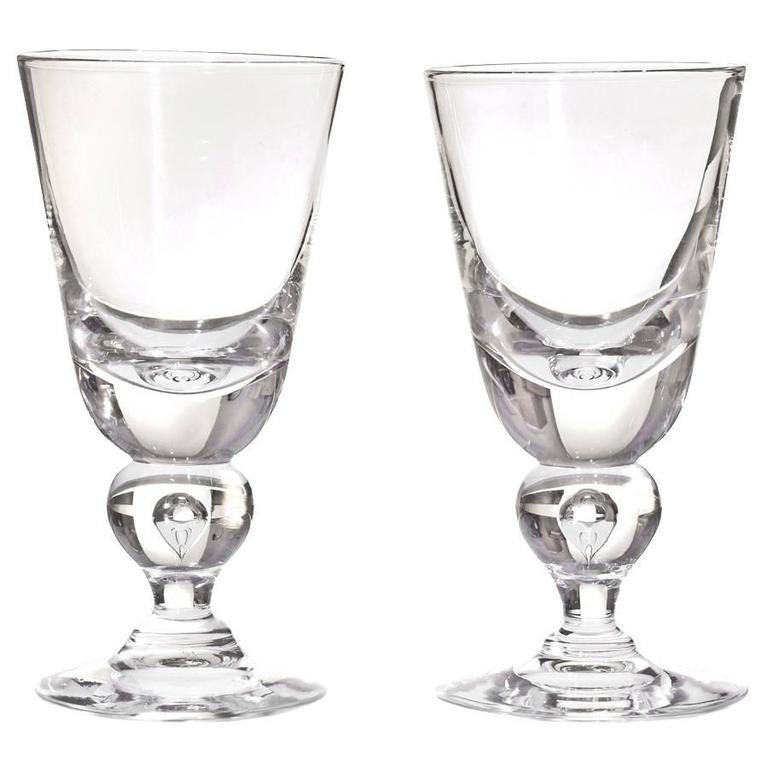 d2847103431 12 Exceptional Steuben Baluster Water Goblets at 1stdibs