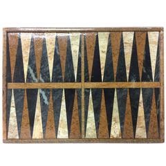 Vintage Brazilian Marble Backgammon Board