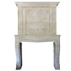 Louis XIV Period Stone Fireplace, 18th Century