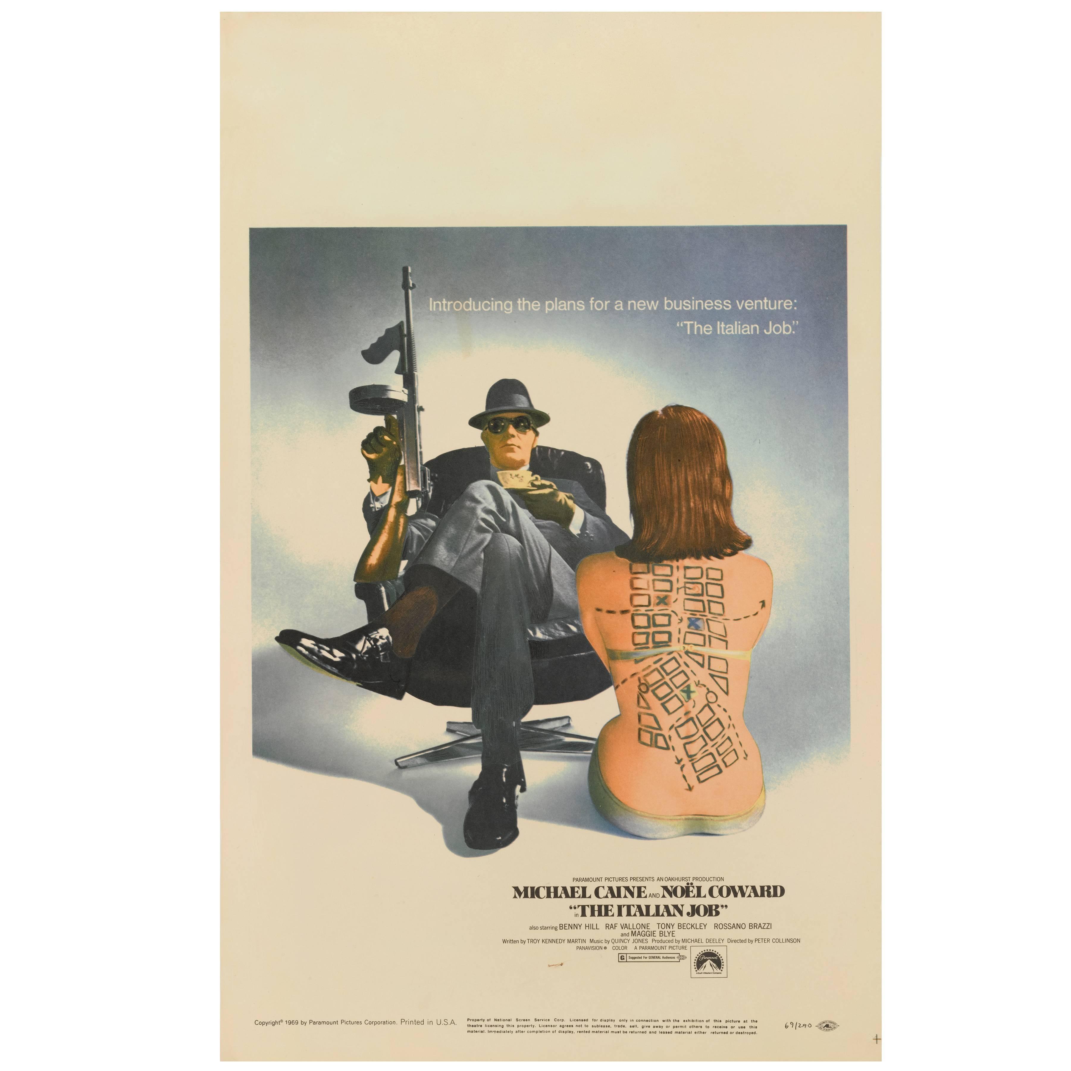 """Italian Job"" Original US Movie Poster"