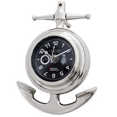 Seal Maritime Clock in Polished Nickel