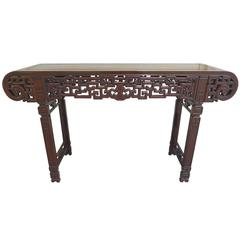 20th Century Elmwood Asian Altar Table