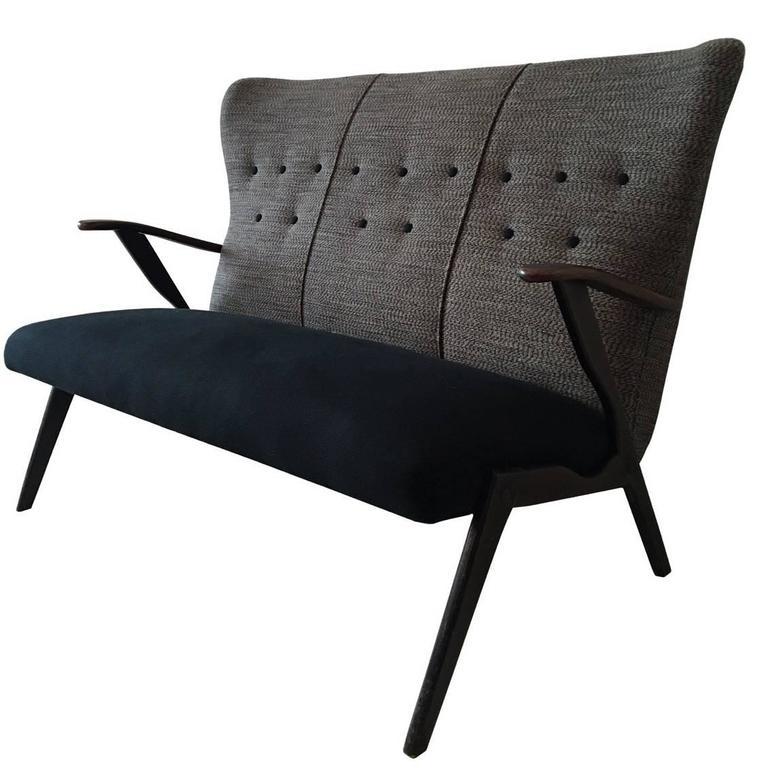 Small Three-Seat Sofa, Ercol Style, 1950s