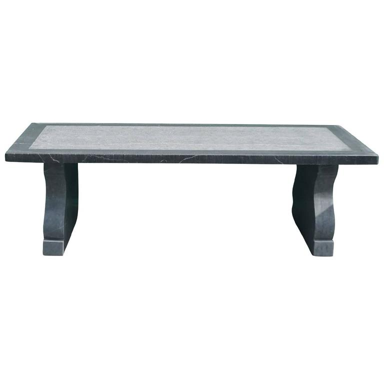 Ghent Belgian Blue Stone Table For Sale
