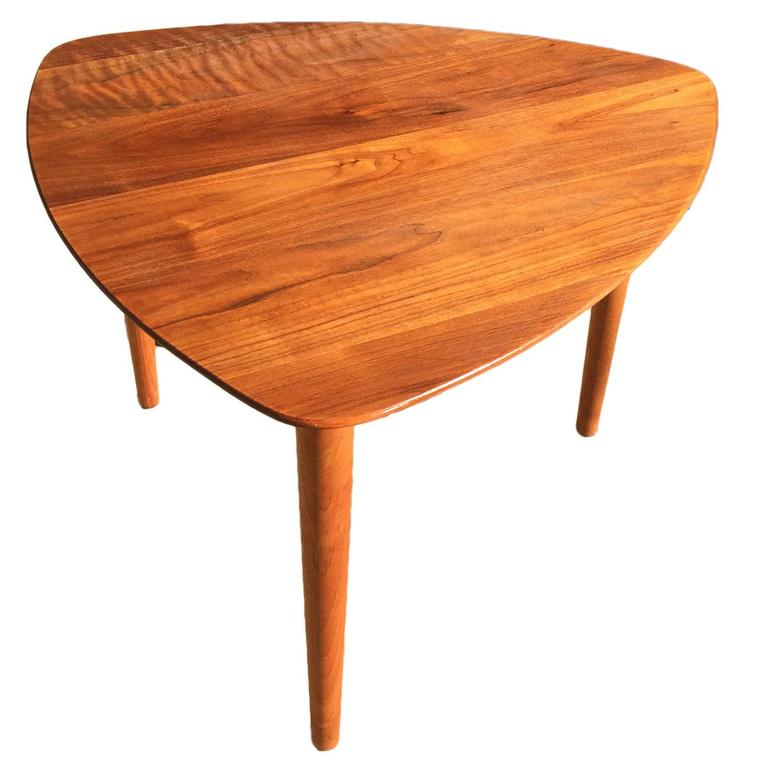 Danish Style Walnut Side Table Attributed to Jerry Glaser