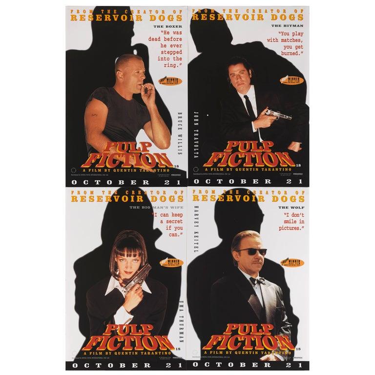 """Pulp Fiction"" Original British Set of Four Advance Posters For Sale"