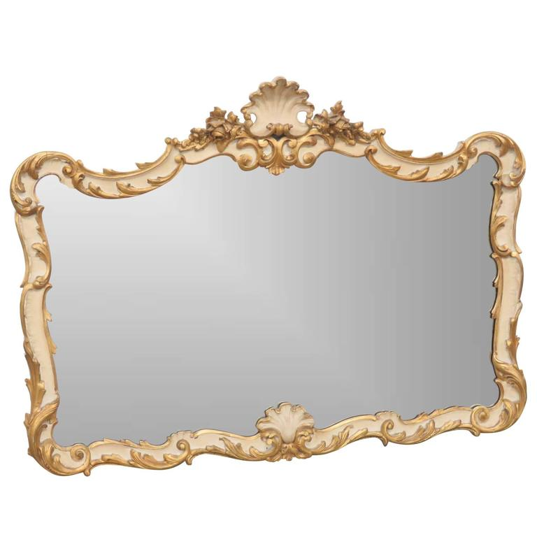 italian style cream and gilt mirror for sale at 1stdibs