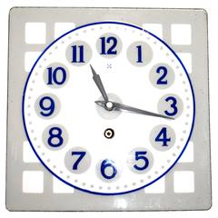 Enameled Wall Clock Art Nouveau Vienna Secession