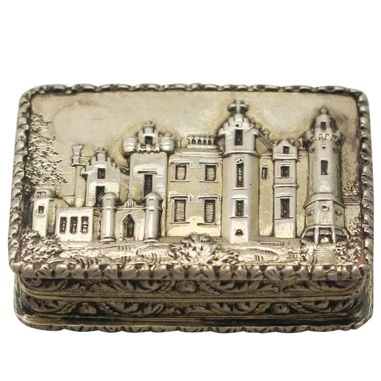 Antique Victorian Sterling Silver Vinaigrette by Nathaniel Mills