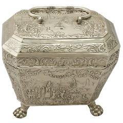 Antique Dutch Silver Tea Caddy
