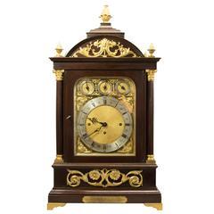 Big English Bracket Clock with Eight Chiming Bells