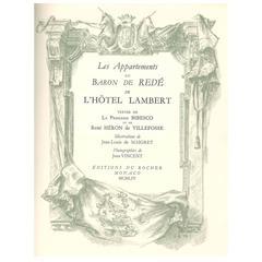 """""""Les Appartements du Baron de Rede en L'HOTEL LAMBERT"""" Book"""
