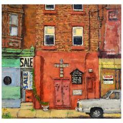 'West Philadelphia' Mid-Century Urban Art by Seymour Rotman