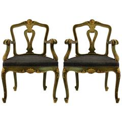 Pair of Northern Italian Armchairs