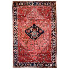 Vintage Turkish Rug Azeri with Bakhshayesh Heriz Design