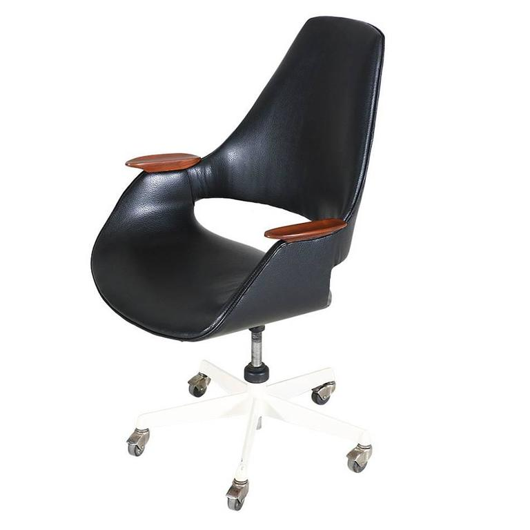 Arthur Umanoff Swivel Office Chair For Sale