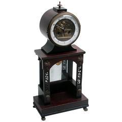 French Empire Mahogany Mantel Clock, circa 1820