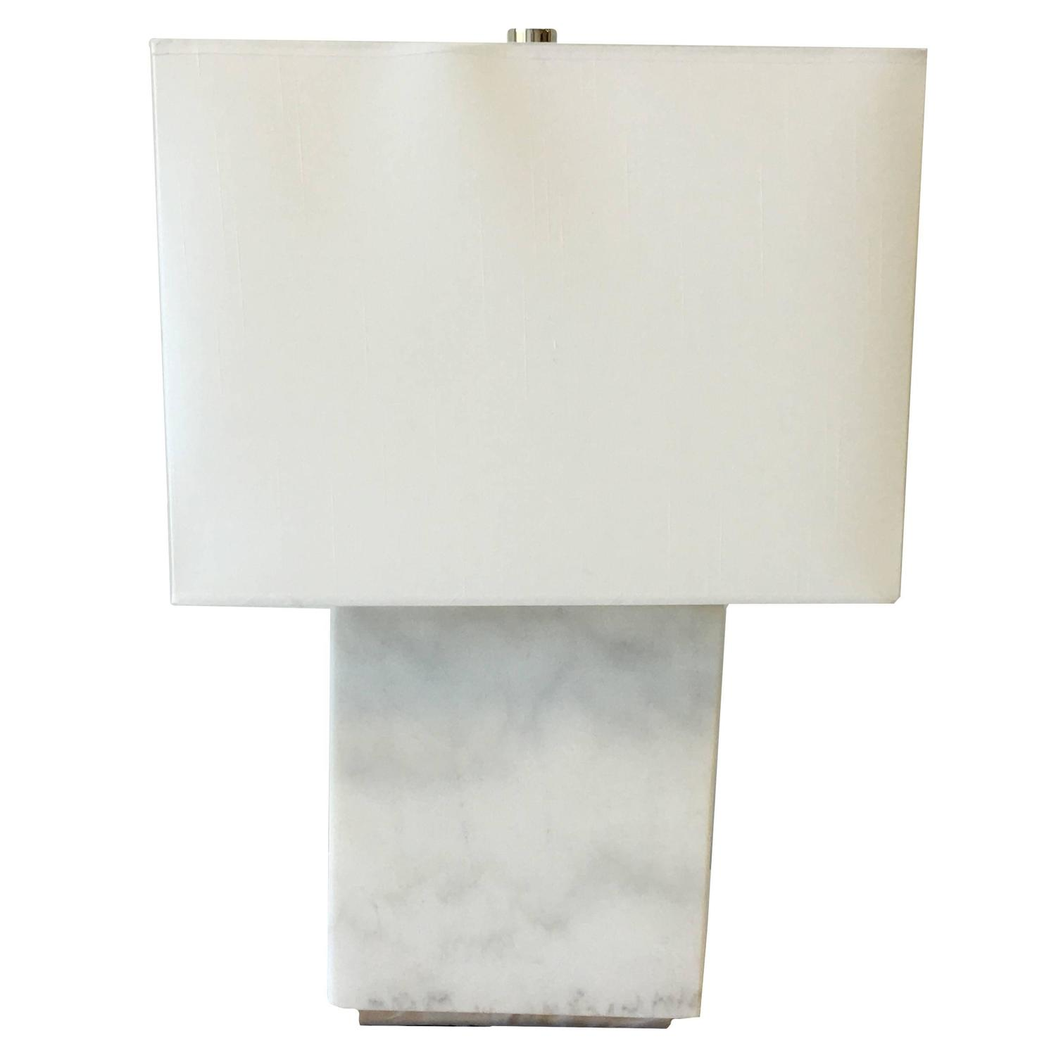 ralph lauren modern solid white marble lamp for sale at. Black Bedroom Furniture Sets. Home Design Ideas