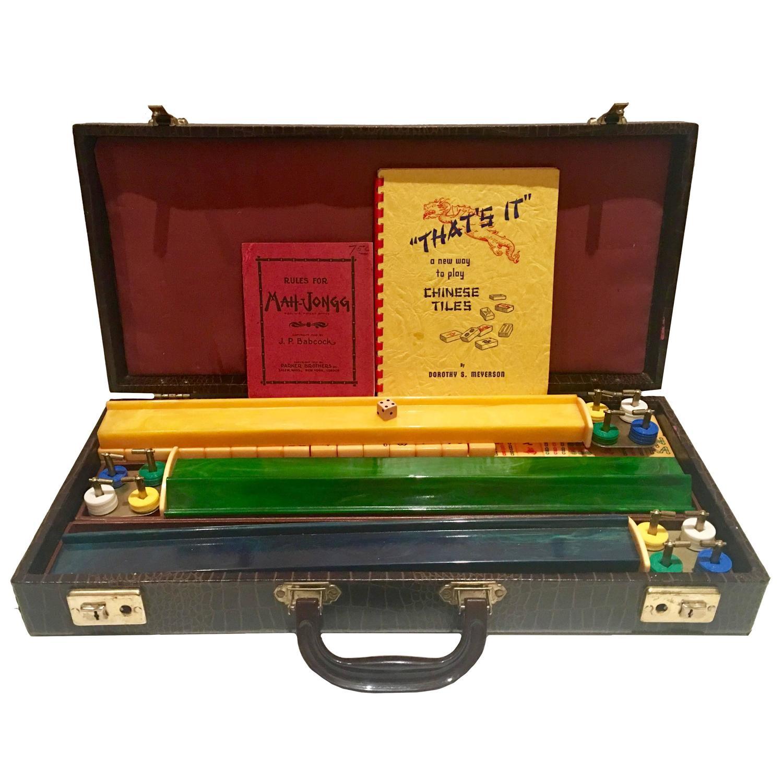 1920s Bakelite 171 Piece Mahjong Game Set at 1stdibs