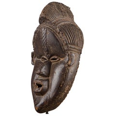 Late 19th or Early 20th Century Tribal Bassa Mask, Liberia