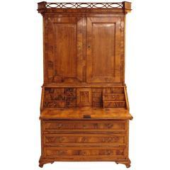 18th Century Louis XVI Elmwood Bureau Cabinet, Denmark, circa 1780