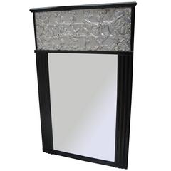 Fine Art Deco Ebonized Mirror