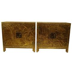 Pair of Mid-Century Gracie Lacquer Cabinets