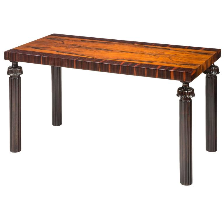 Reiners Möbelfabrik, A Swedish Macassar, Palisander and Ebonized Birch Table For Sale