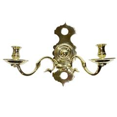Set of Four Polish/Russian Cast Brass Wall Sconces
