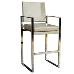 St. Cloud Bar or Counter Chair in Polished Steel