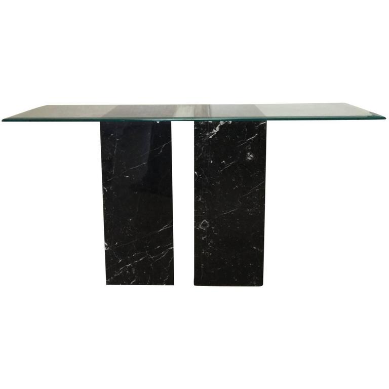 Sirmos Style Black and White Marble Console Table 1