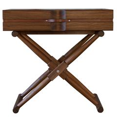 Matthiessen Side Table in Oiled Walnut with Saddle English Bridle Leather Straps