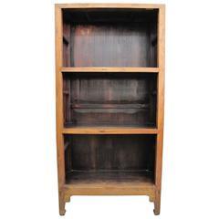 19th Century Chinese Elmwood Book Shelf