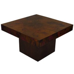 Bernhard Rohne Signed Copper Coffee Table