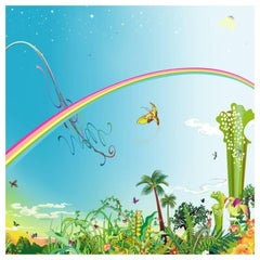 "Chiho Aoshima's ""Rainbow Sky"" Limited Edition Signed Print"