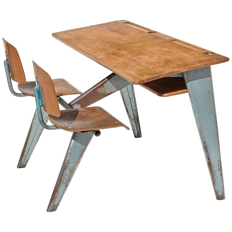 1946 Students' Desk by Jean Prouvé 1