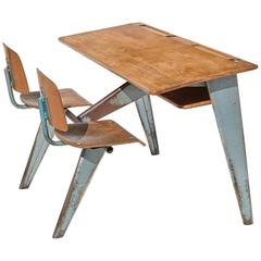 1946 Students' Desk by Jean Prouvé