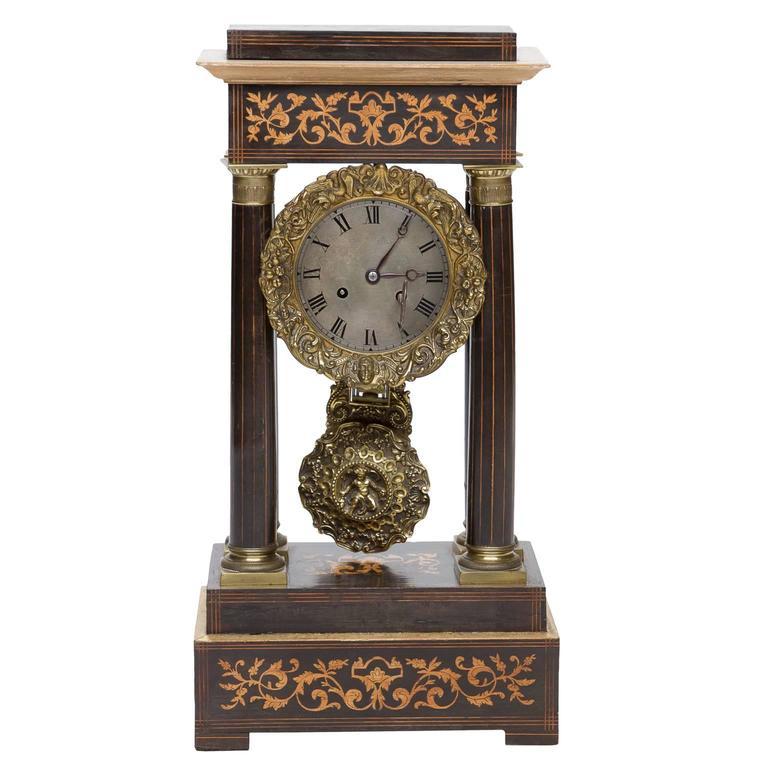 19th Century French Portico Mantel Clock