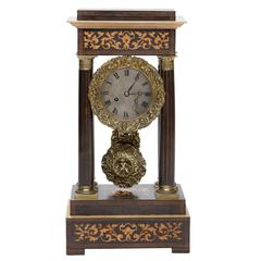 19th Century French Portico Mantel Clock