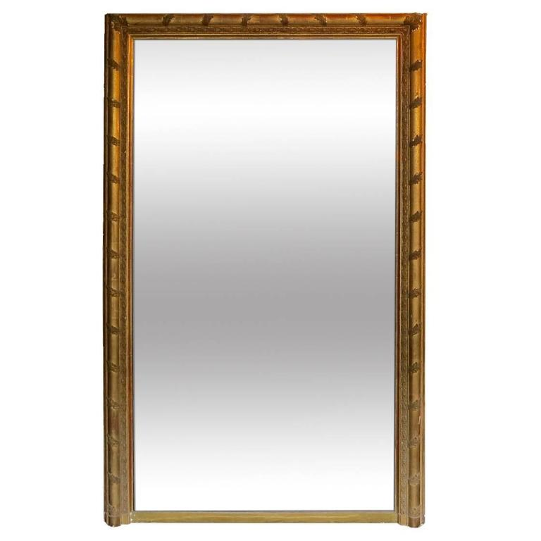 Tall antique french gold gilt overmantel mirror for sale for Tall mirrors for sale