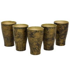 Jacques Blin Five Ceramic Cups or Vases Mid-Century, France, 1950s
