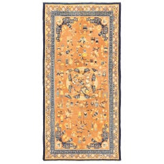 Antique Late 17th Century Chinese Ningxia Rug. Size: 6 ft 2 in x 12 ft
