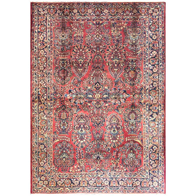 Marvelous Persian Sarouk, C-1920's For Sale At 1stdibs