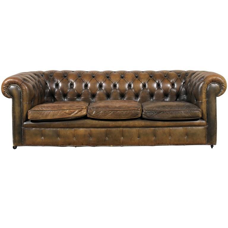 20th Century English Chesterfield Sofa