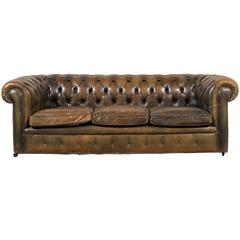 20th Century English Chesterfield Sofa