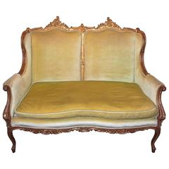 18th Century Heavily Carved French Gilded Loveseat