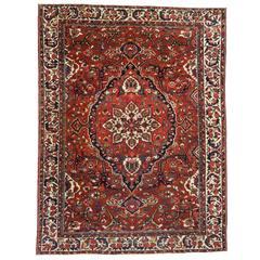 Antique Persian Bakhtiari Area Rug With American Colonial and Federal Style
