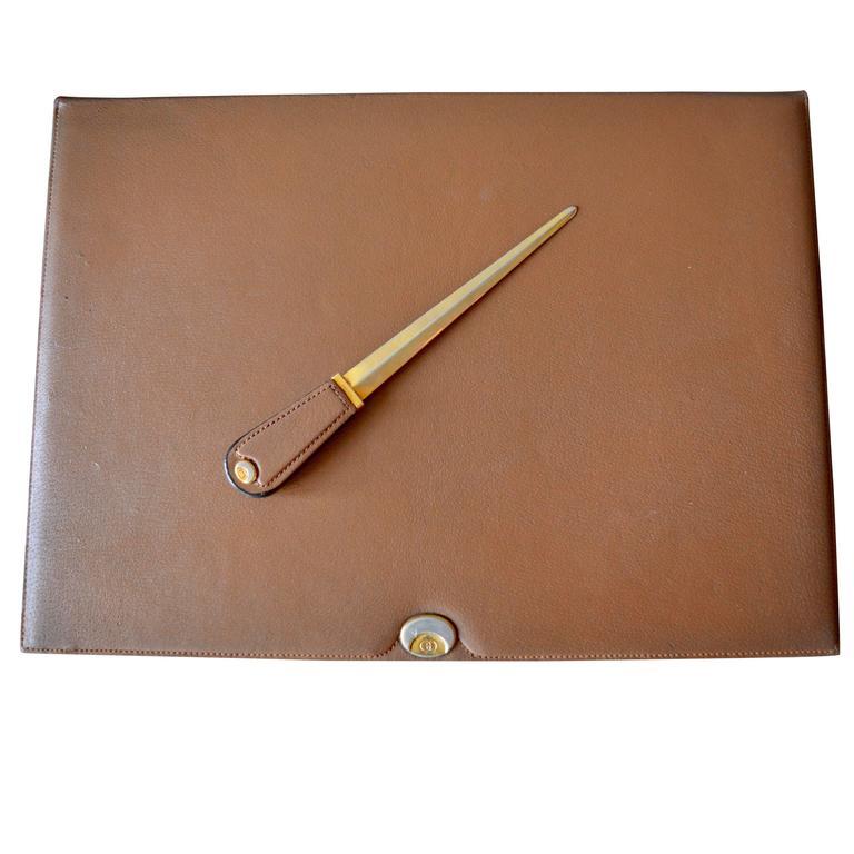 59fc07020 Gucci Leather Desk Set For Sale at 1stdibs