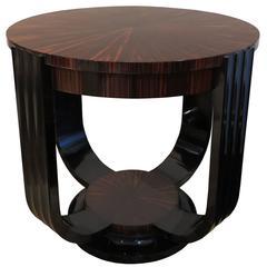 Christian Krass Macassar Ebony Table, 1930-1940s